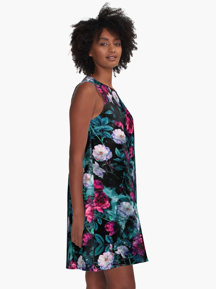 Alternate view of RPE FLORAL ABSTRACT III A-Line Dress