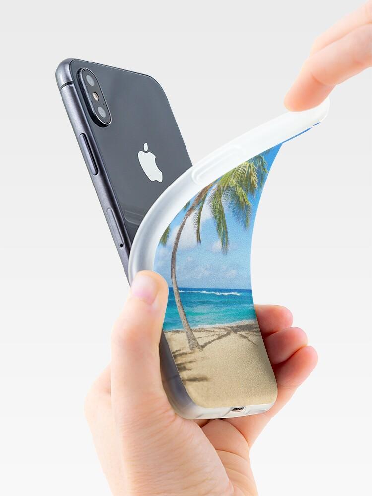 Alternative Ansicht von Palm trees on the sandy beach in Hawaii iPhone-Hüllen & Cover