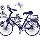 Fahrrad und Blumenverzierung 4 von AnnArtshock