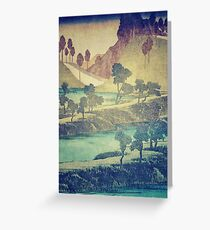 A Valley in the Evening Greeting Card