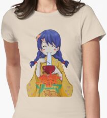 Tadokoro happy eating Womens Fitted T-Shirt