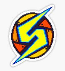 Pegatina Super Metroid - Samus Logotipo