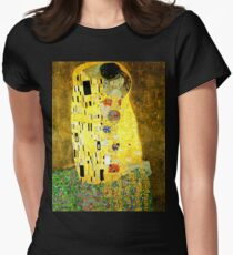 The Kiss by Gustav Klimt Women's Fitted T-Shirt