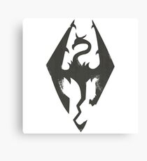 Iron Dragon Grunge Canvas Print