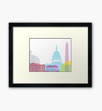 Washington DC skyline pop Framed Print