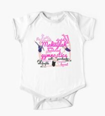 Personalised Gymnastics Collage - Makaylah  One Piece - Short Sleeve