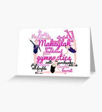 Personalised Gymnastics Collage - Makaylah  Greeting Card