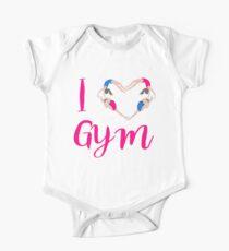 I Love Gymnastics  One Piece - Short Sleeve