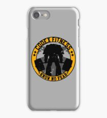 Know No Fear (large badge) iPhone Case/Skin