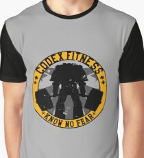 Know No Fear (large badge) Graphic T-Shirt
