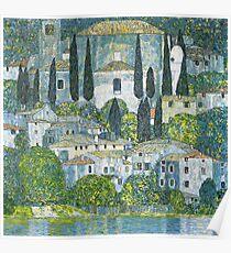 Church in Cassone by Gustav Klimt Poster