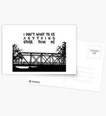 Ich will nicht sein - EIN TREE HILL Postkarten