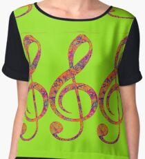 Psychedelic Music note 4 Chiffon Top