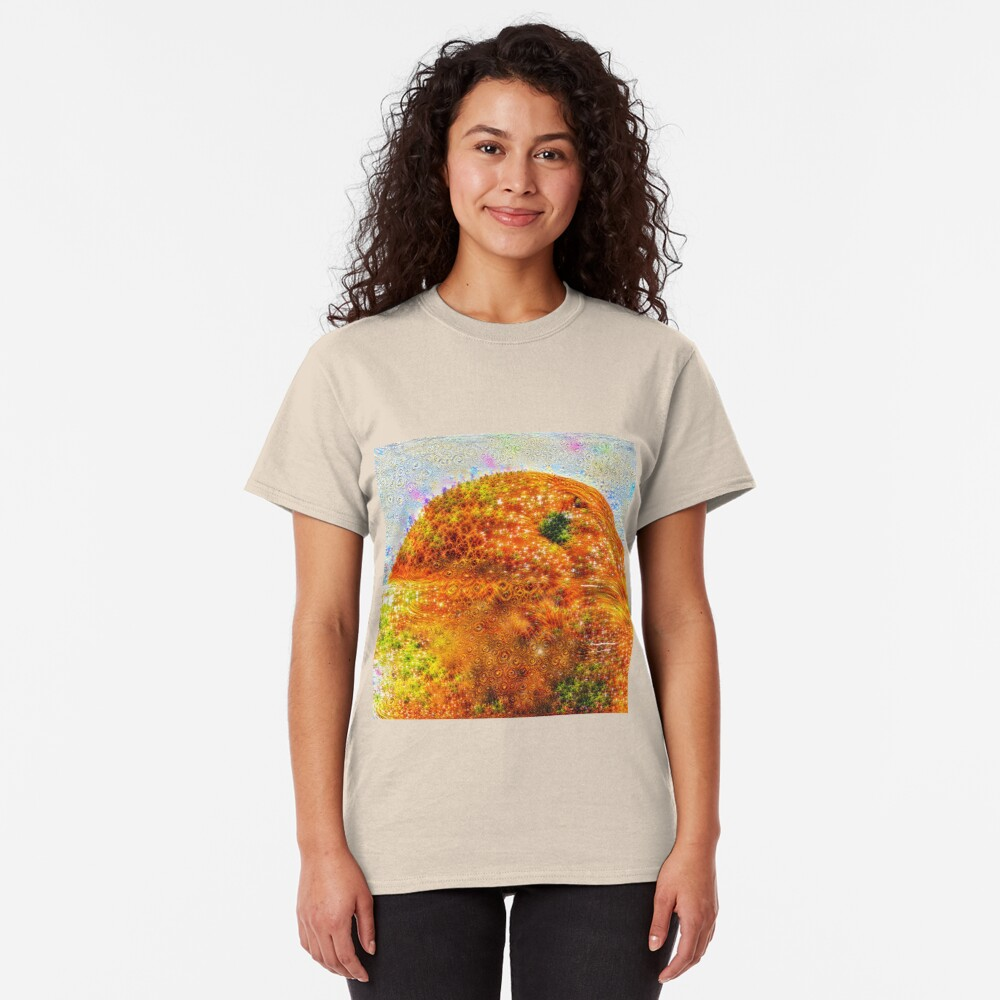 #DeepDreamed Frozen Orange Classic T-Shirt