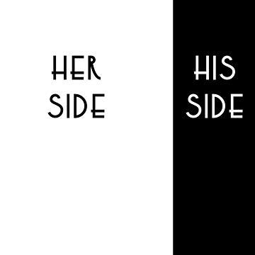 her side, his side duvet by soulwhispherer