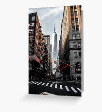 Lower Manhattan One WTC Greeting Card
