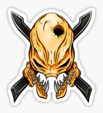 Elite Skull - Halo Legendary Orange Sticker