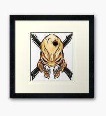 Elite Skull - Halo Legendary Orange Framed Print
