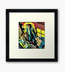 Criminal on a ledge surrounded by Cops Framed Print