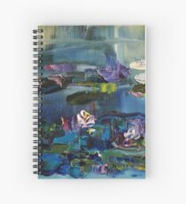 Lily Pond - morning - close up 2 Spiral Notebook