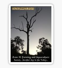 Zone 31 - Farming and Aquaculture - Sunset Tree Sticker