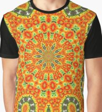 Kaleidoscope of Bold Orange Gazanias  Graphic T-Shirt