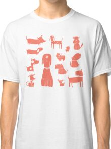 dogs - coral Classic T-Shirt
