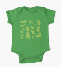 dogs - green One Piece - Short Sleeve