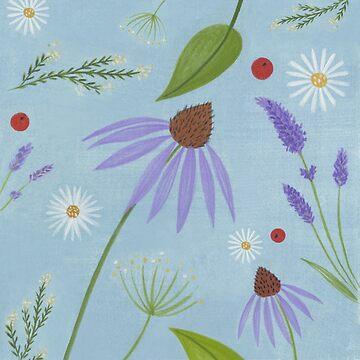 Echinacea Lavender Daisy B by DionisiSandra