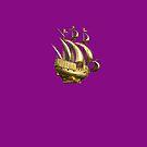 Golden Sail Dress by Gilberte