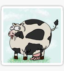 Pegatina Vaca gorda / sexy con fondo