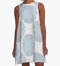 OpArt Grey A-Line Dress