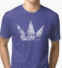 Kingdom Hearts Crown grunge Tri-blend T-Shirt