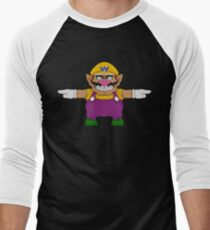 Wario sprite Men's Baseball ¾ T-Shirt