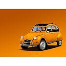 Poster artwork - Citroen 2CV  by RJWautographics