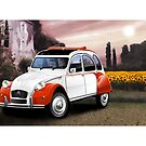 Poster artwork - Citroen 2CV Dolly by RJWautographics