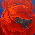 Red Poppies by Laurence Mergi Rapoport