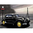 Poster artwork - Citroen Traction Avant by RJWautographics