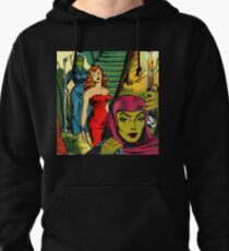 Evil Aliens take their sexy Captive to the dungeon Pullover Hoodie