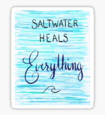 Saltwater Heals Everything Wave Symbol Sticker