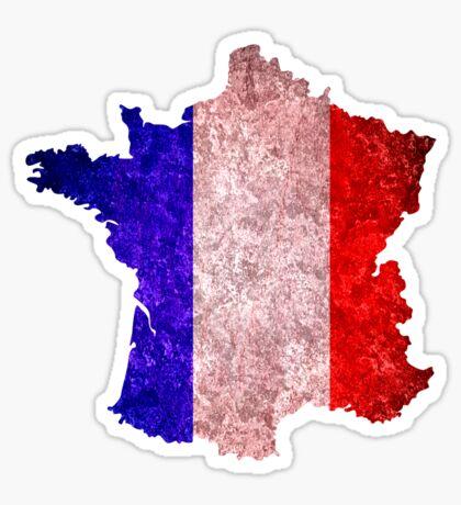 France Flag Map Sticker