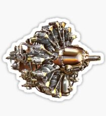 Vintage Radial Aircraft Engine Sticker