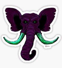 Blacklight Mammoth Sticker