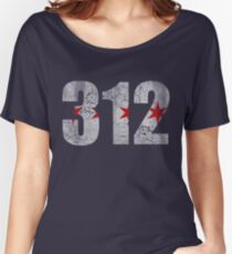 Vintage Chicago Flag 312  Women's Relaxed Fit T-Shirt
