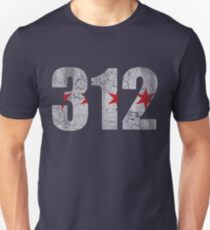 Vintage Chicago Flag 312  Unisex T-Shirt