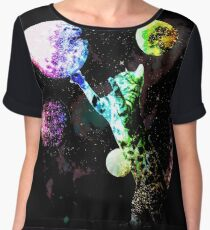 Space Cat with Planets Chiffon Top