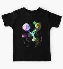 Space Cat with Planets Kids Tee