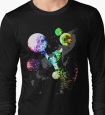 Space Cat with Planets Long Sleeve T-Shirt