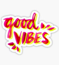 Good Vibes – Pink & Yellow Sticker