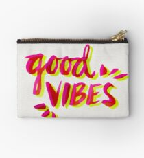 Good Vibes – Pink & Yellow Studio Pouch